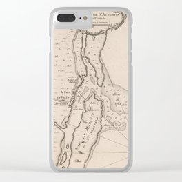 Vintage Map of St Augustine FL (1764) Clear iPhone Case