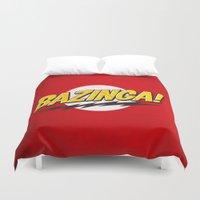 bazinga Duvet Covers featuring Bazinga Flash by Nxolab