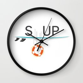 Anyone can change – SUP passion Wall Clock