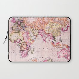 Vintage Map Pattern Laptop Sleeve
