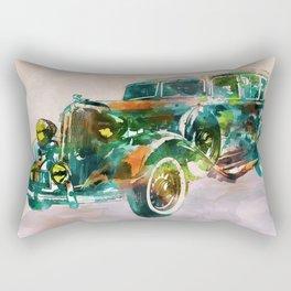 Vintage Car in watercolor Rectangular Pillow