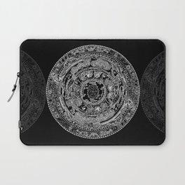 An Island Mandala - PEI, Canada - Original Colors - Black on White Laptop Sleeve