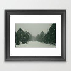 snow. Framed Art Print