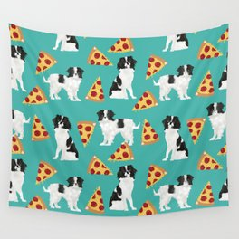 Japanese Chin cheery pizza slice junk food funny cute gifts for dog lover pet friendly pet protraits Wall Tapestry