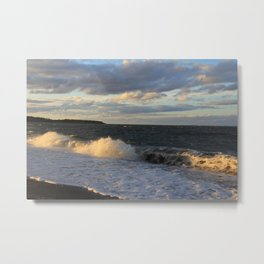 Autumn Crashing Waves Metal Print