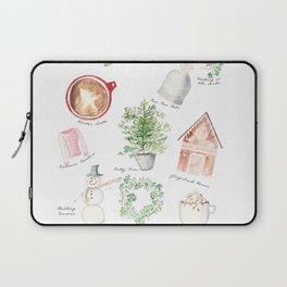 Winter Favorites in Watercolor Laptop Sleeve