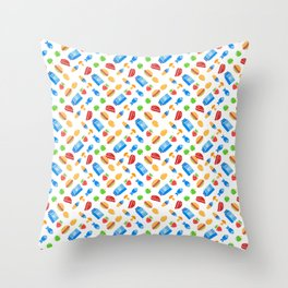 """""""Must eat now"""" grocery list (fun food pattern) Throw Pillow"""