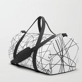 Black line doodle single line Duffle Bag