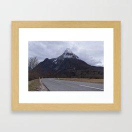 Road Towards Mangart Mountain Framed Art Print