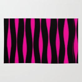Wavy Pattern (Pink+Black) Rug