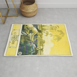 Vintage 1924 Campari Advertisement by Marcello Dudovich Rug
