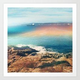 Colours of the sea Art Print