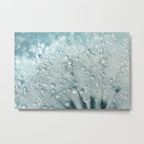 Snow Storm Dandy Drops Metal Print
