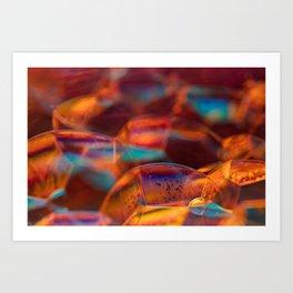 Sunset Bubbles Art Print