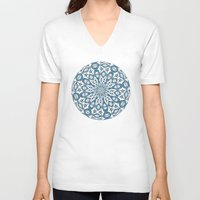 snowflake V-neck T-shirts featuring Snowflake by Stay Inspired