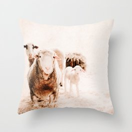Milly's family portrait Throw Pillow