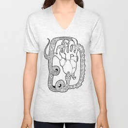 the snake bite Unisex V-Neck