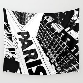 Cities in Black - Paris Wall Tapestry