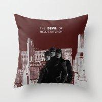 daredevil Throw Pillows featuring Daredevil by amyskhaleesi