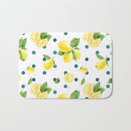 Lemon Pattern 12 Bath Mat