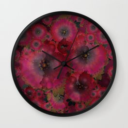 """Manila deep rose flowers"" Wall Clock"