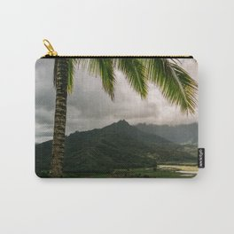 Hanalei Valley Lookout Kauai Hawaii | Tropical Island Nature Coastal Travel Photography Print Carry-All Pouch