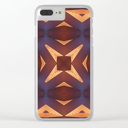 Patterned Mandala Clear iPhone Case