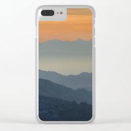"""Sunset at the mountains"". Dreaming... Clear iPhone Case"