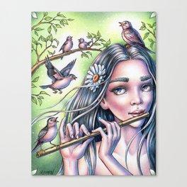 Birdsong Fairy Canvas Print