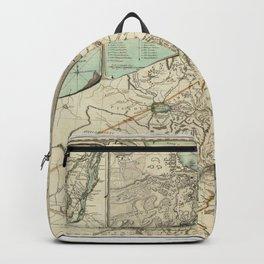 Map of Quebec 1776 Backpack