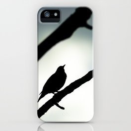 Silhouetted Singer iPhone Case