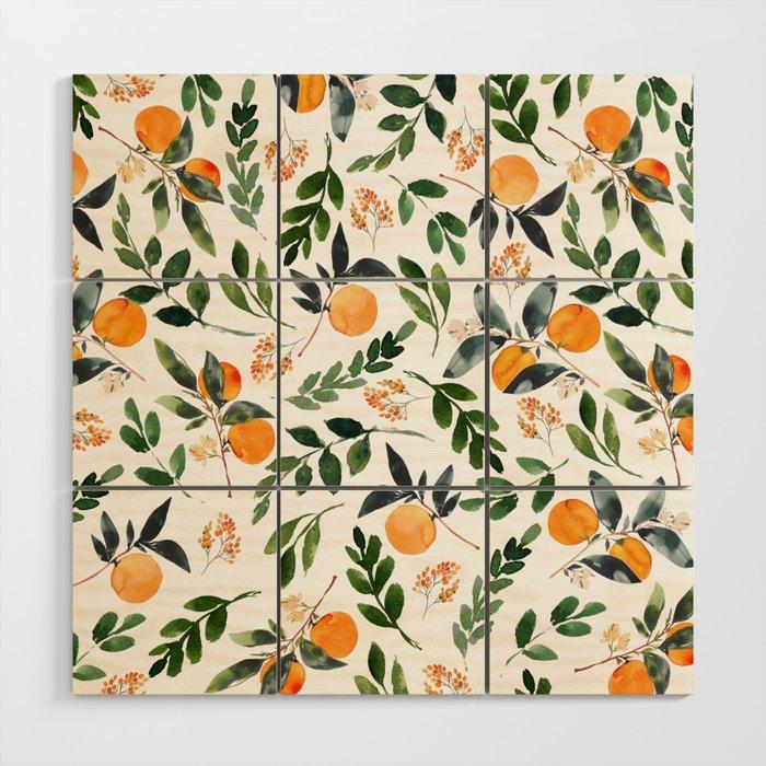 Orange Grove Wood Wall Art