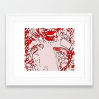 gore Framed Art Prints featuring Gore by Jessica Slater Design & Illustration