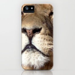 Watercolor Lion Mask 04 iPhone Case