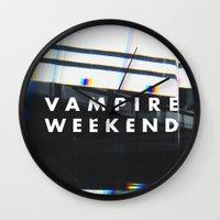 vampire weekend Wall Clocks featuring Vampire Weekend 3 by alboradas