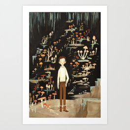 Ivo & His Mushrooms Art Print