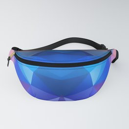 Abstract geometric polygonal pattern inih and pink tones . Fanny Pack