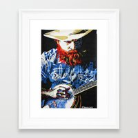 banjo Framed Art Prints featuring Banjo by MiPan