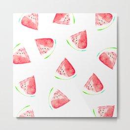 watermelon slice print Metal Print