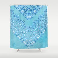 fairy tale Shower Curtains featuring Floral Fairy Tale 2 by Octavia Soldani