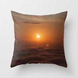 Three Sun SunSet Throw Pillow