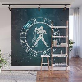 Acquarius Zodiac Wall Mural