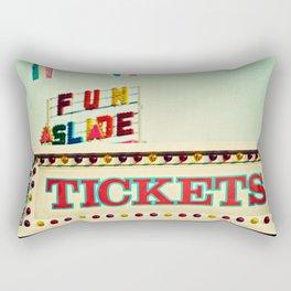 tickets to the fun slide Rectangular Pillow