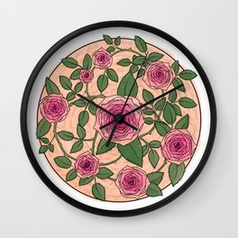 You Are a Rose in Orange Wall Clock
