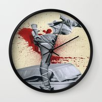medicine Wall Clocks featuring Bad medicine by Oscar Varona