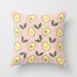 Avocado Fiesta Throw Pillow