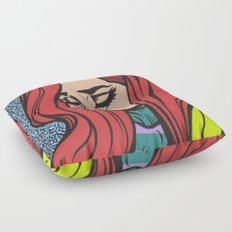 Sad Red Head Floor Pillow