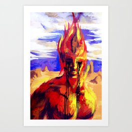 Fire in Wight Art Print