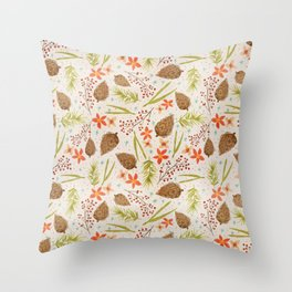 Quiet Walk In The Forest - A Soft And Lovely Pattern Throw Pillow
