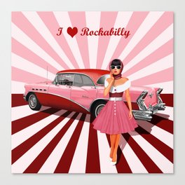 I love Rockabilly Canvas Print